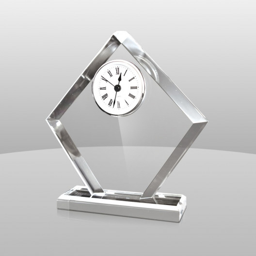 Diamond-Shaped Acrylic Clock
